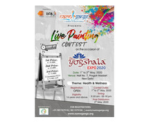 National live painting contest from 1stto 3rdMay, 2020 in Delhi.